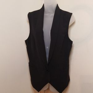 Shawl Collar Blazer Vest
